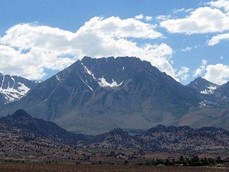 Basin Mountain (California) - Basin Mountain's east face in summer