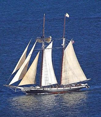 """Baltimore Clipper - Replica of 1847 """"Baltimore Clipper"""" ''Californian'' built in 1984"""