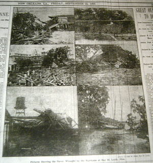 1909 Atlantic hurricane season - Damage caused by the Grand Isle hurricane in Bay St. Louis, Mississippi