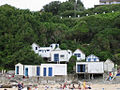 Beach and beach huts in Barneville-Carteret (France).jpg