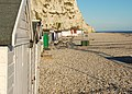 Beer, Beach huts under the cliff - geograph.org.uk - 1736933.jpg