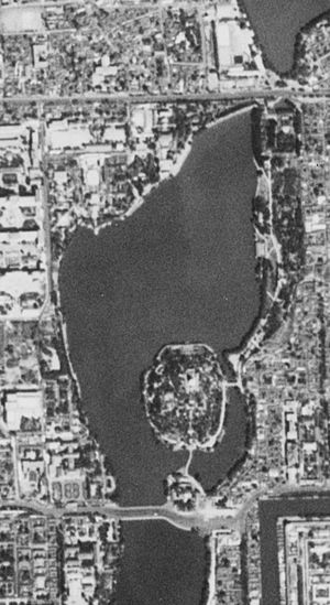 Beihai Park - Satellite image of Beihai Park, 20 September 1967.