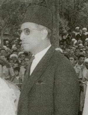 Mbarek Bekkay - Mbarek Bekkay at an official reception ceremony in Tetouan, December 1956.