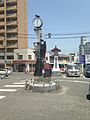 Bell Tower in front of Futsukaichi Station.jpg