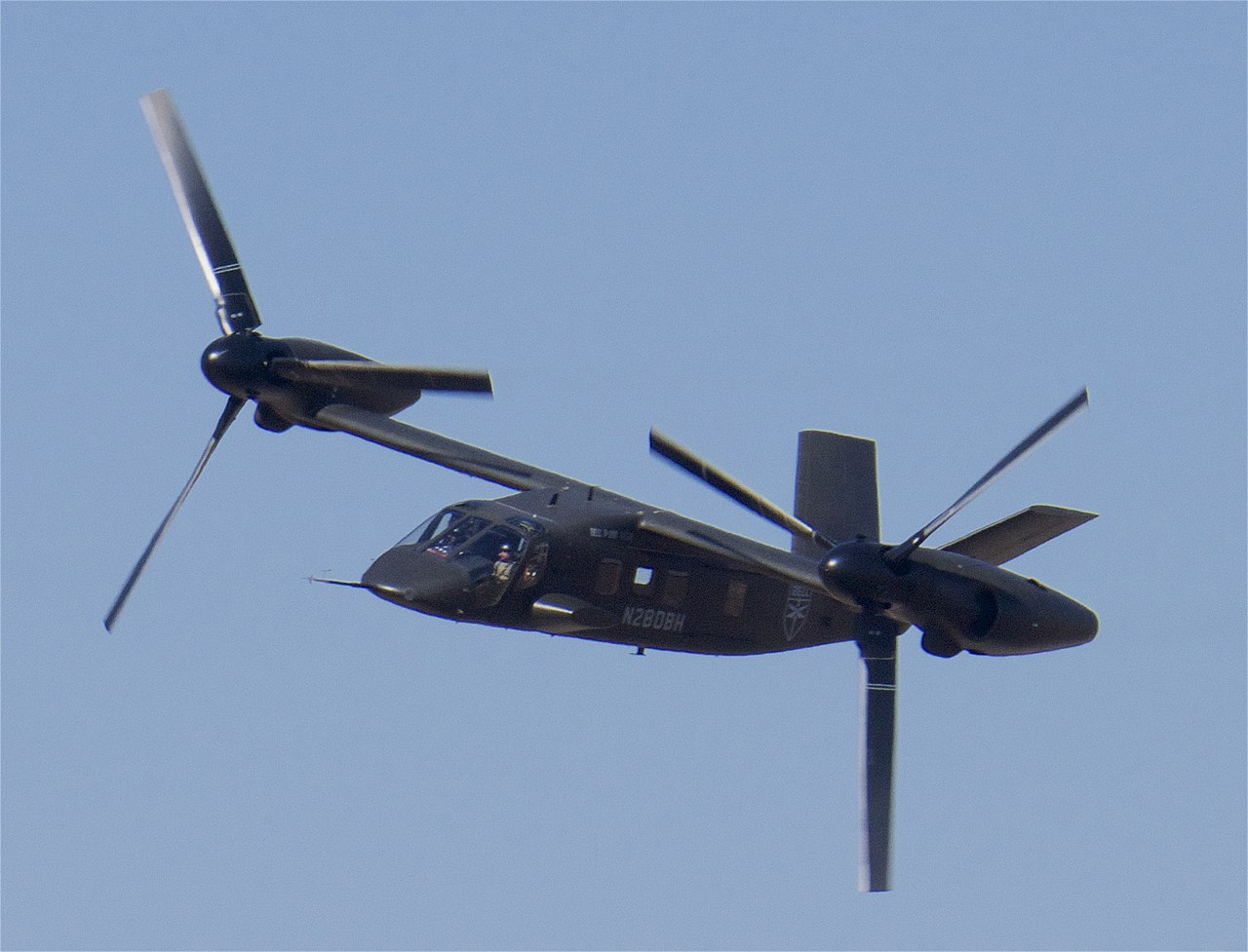 Bell V-280 Valor high speed cruise demo, 2019 Alliance Air Show.jpg