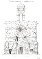 Belmont Abbey Church South West View Camille Enlart 1921 12 14.png
