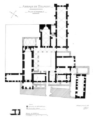 Balamand Monastery - Balamand Monastery floor plan (1921)