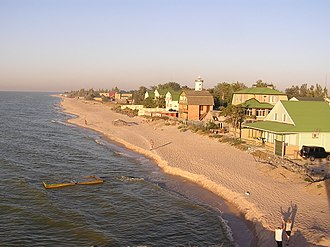 Taganrog Bay - The coast of the bay, with Bilosarayska Spit.