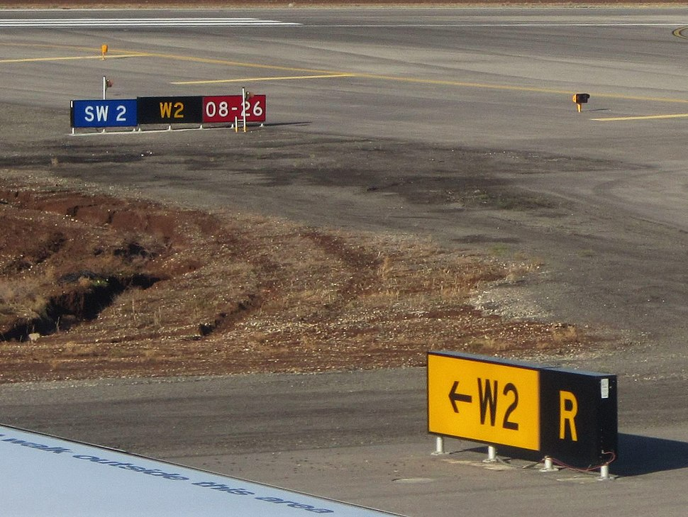 Ben Gurion International Airport 4 taxiway signs