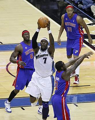 Ben Wallace - Wallace playing for the Pistons in 2009
