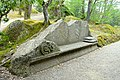 Bench with pillows - Parco dei Mostri - Bomarzo, Italy - DSC02622.jpg