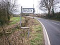 Bendy sign pointing to Ciffig Church - geograph.org.uk - 1188406.jpg