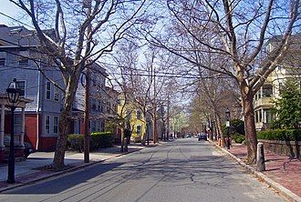 College Hill, Providence, Rhode Island - Benefit Street, the heart of College Hill