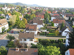Bensheim - Image: Bensheim von Norden