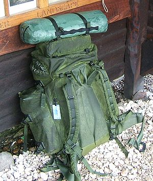 A large internal frame backpack