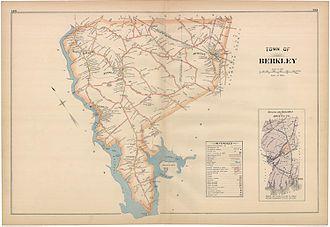 Berkley, Massachusetts - 1895 map of Berkley