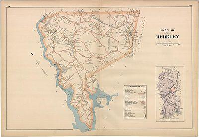 Berkley Massachusetts 1895 map