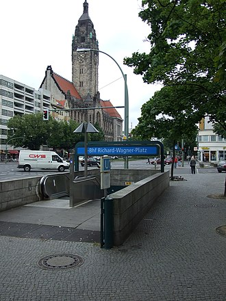 Richard-Wagner-Platz (Berlin U-Bahn) - U-Bahn entrance near Charlottenburg town hall