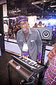 Bernie Worrell on Little Phatty, NAMM 2013.jpg
