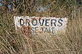 Berrigan Drovers Stock Route Sign.JPG