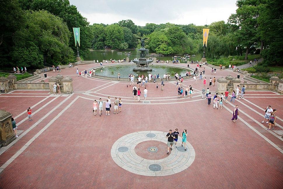 Bethesda Fountain, Central Park, New York, USA-1Aug2010