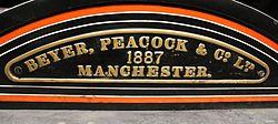 Beyer Peacock nameplate (15508257665).jpg