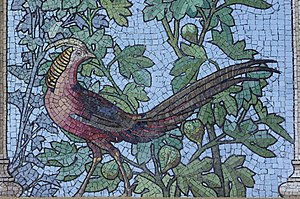 Sainte-Barbe Library - The old refectory is decorated with mosaics by Giandomenico Facchina.