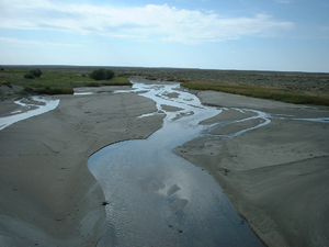 Big Sandy River (Wyoming) - Big Sandy River streamflow near Farson in September 2002 during drought conditions.