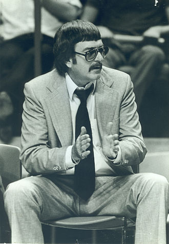 Bill Blakeley - Bill Blakeley coaching North Texas Mean Green men's basketball (photo courtesy of UNT Athletics; photographer unknown; circa 1975–1983)