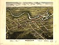 Bird's eye view of Rochester, Strafford County, New Hampshire, 1877 - from a position, east of town LOC 79693222.jpg
