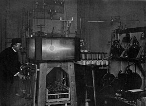 Kristian Birkeland - Kristian Birkeland and his terrella experiment