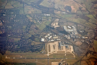 Birmingham Airport - Aerial view of Birmingham Airport
