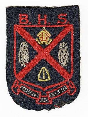 Bishopbriggs Academy - 1970s Bishopbriggs High School blazer badge.