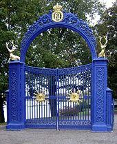 """""""Blå porten"""" kaldes porten til Södra Dyrehaven"""