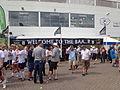 Black Sheep bar, Headingley Stadium during the second day of the England-Sri Lanka test (21st April 2014).JPG