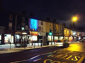 Blakenhall - Terraced shops on Dudley Road, Blakenhall