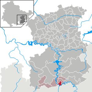 Blankenberg, Thuringia - Image: Blankenberg in SOK