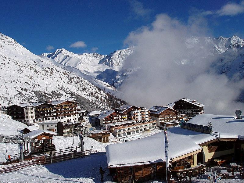 Solden Skigebiet Hotel Garni