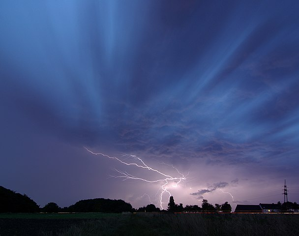 A thunderstorm above Unna, in Germany. by smial