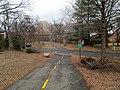 Bluemont Junction Trail crossing of North Buchanan Street, January 2017.JPG