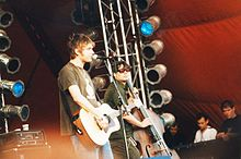 I Blur durante un'esibizione nel 1999