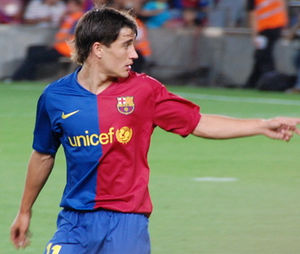 Bojan Krkić - Bojan playing in the 2008 Joan Gamper Trophy against Boca Juniors