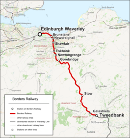 Train Routes In Scotland Map.Borders Railway Wikipedia