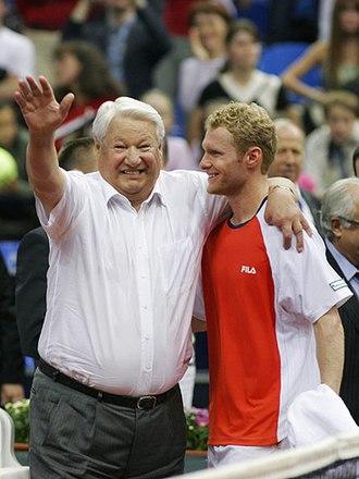 Dmitry Tursunov - Tursunov with former Russian president Boris Yeltsin, 24 September 2006.