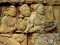 Borobudur - Lalitavistara - 009 E, Goddesses visit Queen Maya who has vowed Celibacy (detail 1) (11247951645).jpg