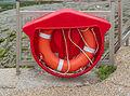 Bouée de sauvetage, Conleau, golfe du Morbihan, France.jpg