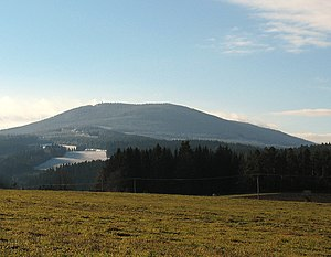 Boubín - Boubín Hill in South Bohemian region.