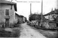 Brézins, le grand chemin, 1912, p 34 l'Isère les 533 communes - .tif