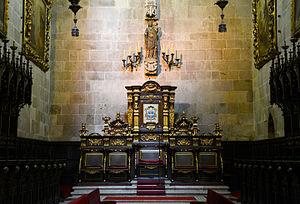 Braga Cathedral - Main chapel and altar