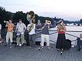 Brass band on Pont des Arts, Paris.jpg